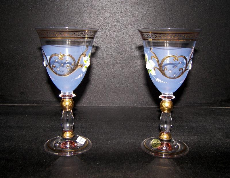 ein glas wein fonds blau 2st 200 ml ht dekoratives. Black Bedroom Furniture Sets. Home Design Ideas