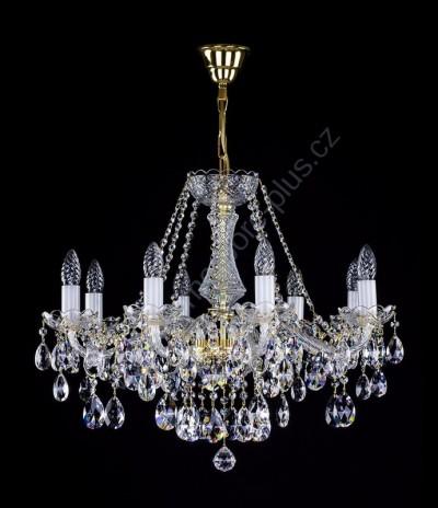 Kristallleuchter 8 arme 9l130cl8 65x51cm zogene kette for Kristall leuchte