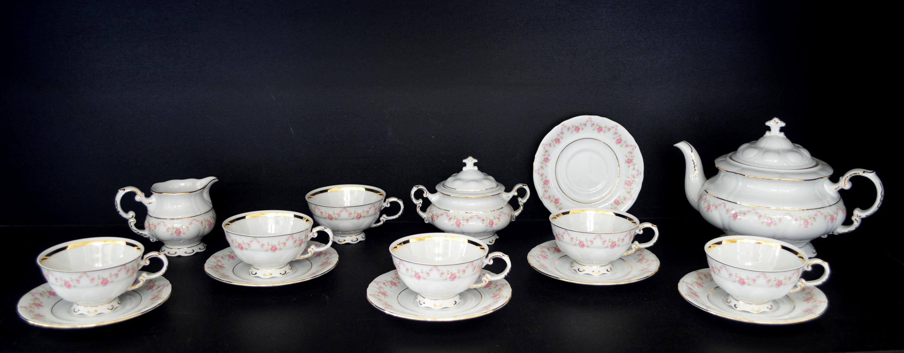 porzellan tee set sonate 158 15st leander lou ky kaffeeservice teeservice porcel n sklo. Black Bedroom Furniture Sets. Home Design Ideas